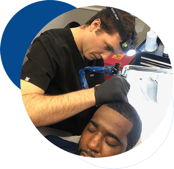 Two Men Scalp Surgery Image